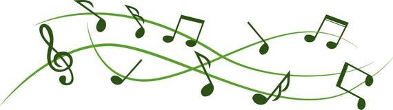Strato astratto di musica con priorità bassa bianca Fotografia Stock