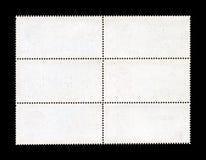 Strato in bianco del francobollo Immagini Stock