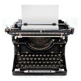 Strato in bianco in una macchina da scrivere Fotografia Stock