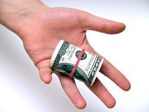 Strato cento dollari Immagini Stock