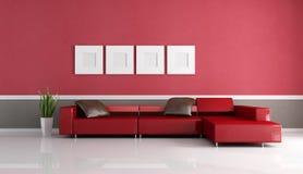 Strato contemporaneo in salotto minimalista royalty illustrazione gratis