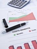 Strato dei Costo-Benefici Fotografie Stock