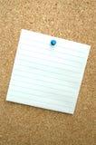 Strato del documento in bianco Fotografia Stock