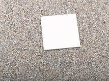 strato del documento in bianco, sabbia Fotografie Stock Libere da Diritti