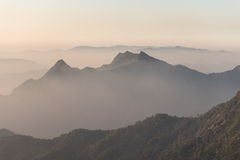 Strato del fondo della montagna Fotografia Stock