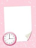 Strato del Libro Bianco con l'orologio. Immagini Stock Libere da Diritti