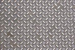 Strato del pavimento del metallo di slittamento del piatto d'acciaio vecchio, struttura arrugginita, metallica, fondo di industri immagini stock libere da diritti