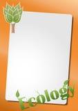 Strato del testo di ecologia Fotografia Stock