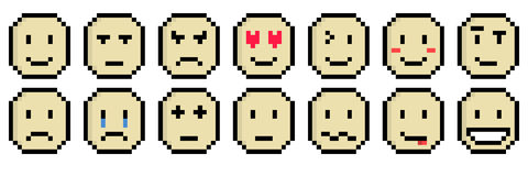Strato dell'emoticon Fotografia Stock Libera da Diritti
