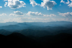 Strato della montagna fotografie stock libere da diritti
