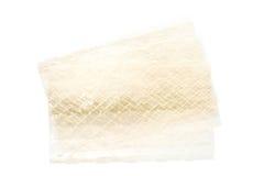 Strato delle foglie della gelatina su bianco Immagine Stock