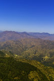 Strato delle montagne nella gamma himalayana di Garhwal Fotografia Stock