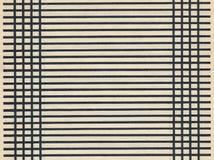 Strato di carta antico della pagina in bianco con la linea nera Immagini Stock Libere da Diritti