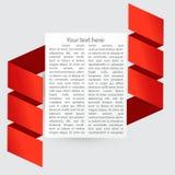 Strato di carta con il posto per il vostro testo Immagini Stock