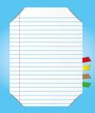 Strato di carta con il segnalibro illustrazione vettoriale