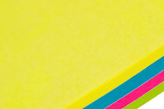 Strato di carta giallo Fotografie Stock