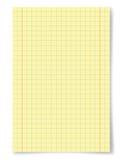 Strato di carta giallo Fotografia Stock