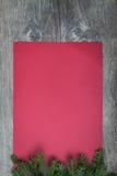 Strato di carta rosso Fotografie Stock Libere da Diritti