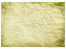 Strato di carta sporco vuoto fotografia stock