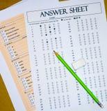 Strato di domande e risposte Fotografie Stock