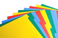Strato di indice analitico di plastica Fotografie Stock Libere da Diritti