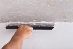 Strato di miglioramento della Camera dello stucco Fotografie Stock