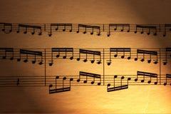 Strato di musica Fotografie Stock