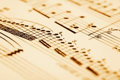 Strato di musica fotografie stock libere da diritti