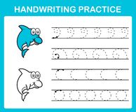 Strato di pratica della scrittura illustrazione di stock