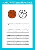 Strato di pratica della scrittura illustrazione vettoriale