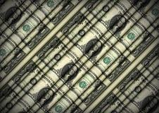 Strato di rotolamento delle banconote in dollari Immagini Stock Libere da Diritti