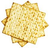 Strato ebreo tradizionale del pane azzimo come fondo Fotografia Stock Libera da Diritti