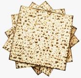 Strato ebreo tradizionale di Matzoth per il pesach Seder Fotografie Stock Libere da Diritti