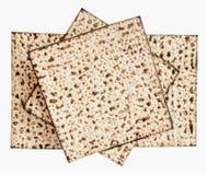 Strato ebreo tradizionale di Matzoth per il pesach Seder Immagini Stock Libere da Diritti