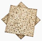 Strato ebreo tradizionale di Matzoth per il pesach Seder Fotografia Stock Libera da Diritti