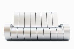 Strato impressionante del metallo su priorità bassa bianca Immagini Stock Libere da Diritti