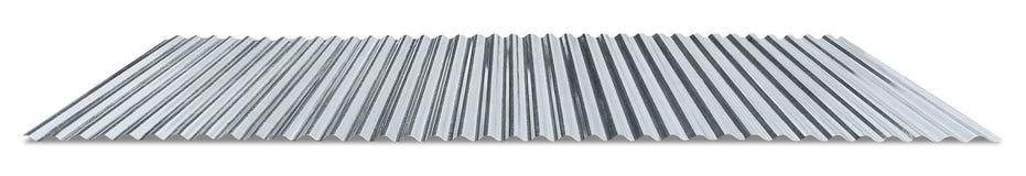 Strato ondulato galvanizzato metallo fotografia stock