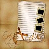 Strato per il disegno con l'arco e le trasparenze Immagini Stock