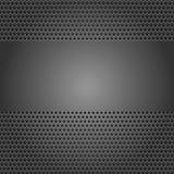 Strato perforato della priorità bassa grigio scuro Fotografia Stock