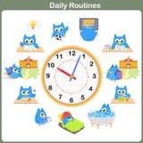 Strato quotidiano di routine - Foglio di lavoro illustrazione vettoriale