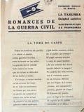 Strato scritto con i romances della guerra civile Il colpo di Caspe Guerra civile spagnola fotografie stock