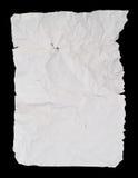 Strato sgualcito piegato e corrugato del Libro Bianco fotografia stock libera da diritti