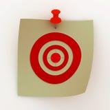 Strato verniciato con un obiettivo. immagine 3D Fotografia Stock