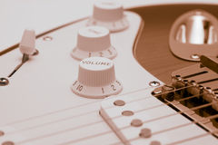 Stratocaster. Cool electric guitar royalty free stock photo