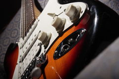 Stratocaster Guitar I. Beautiful stratocaster guitar with 6 strings Royalty Free Stock Image