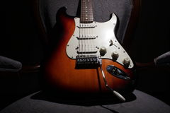 Stratocaster Guitar II. Beautiful stratocaster guitar with 6 strings Royalty Free Stock Photo
