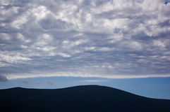 Stratocumulus,蒂瓦特,黑山 免版税库存图片