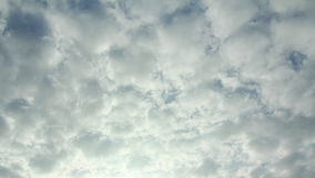 Stratocumulus cloud running stock video footage
