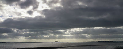 Stratocumulus clouds, Auckland. Royalty Free Stock Photography
