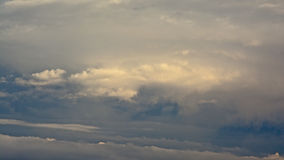 Stratocumulus clouds. Background of soft grey stratocumulus clouds Royalty Free Stock Photography